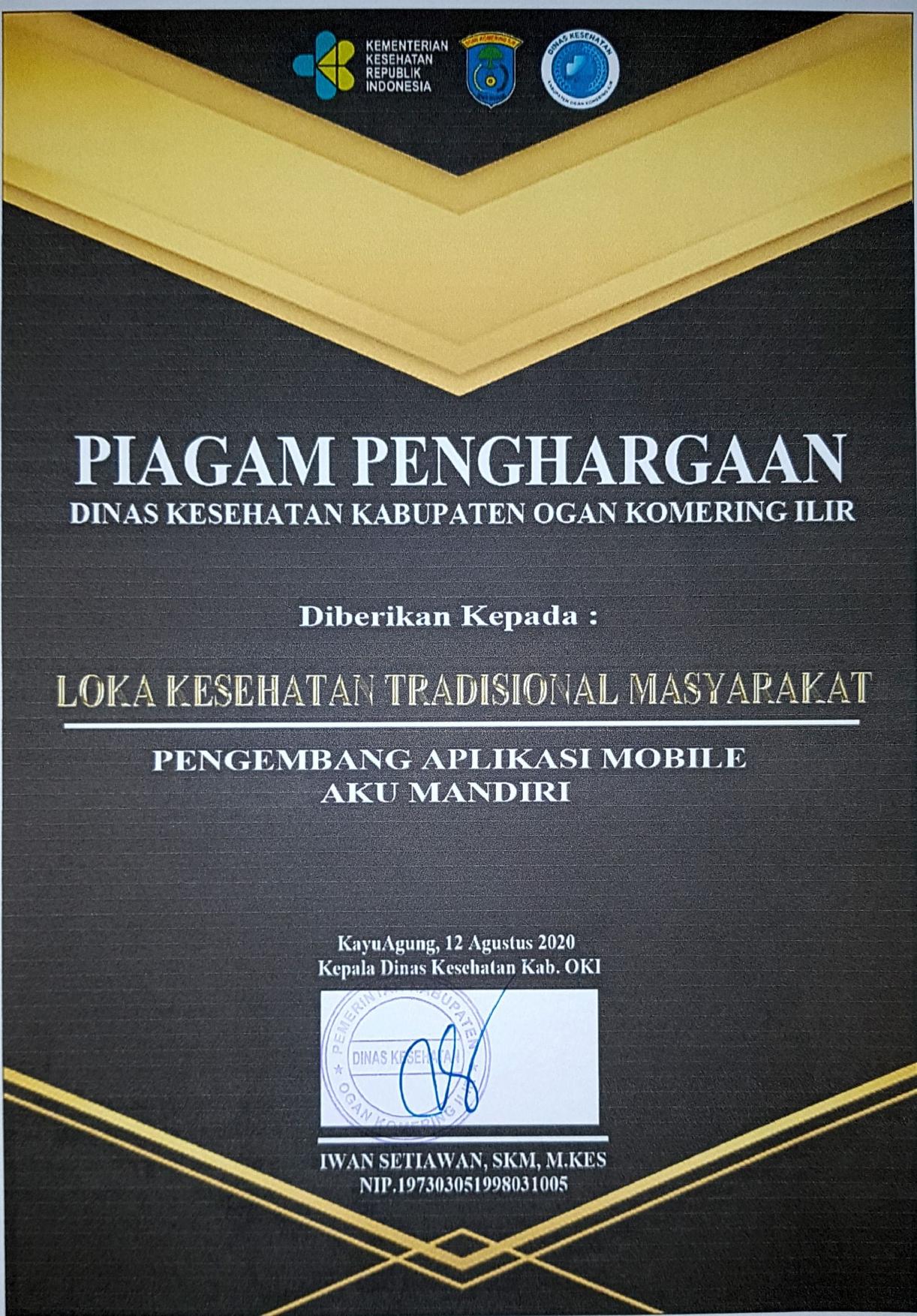 Piagam Penghargaan